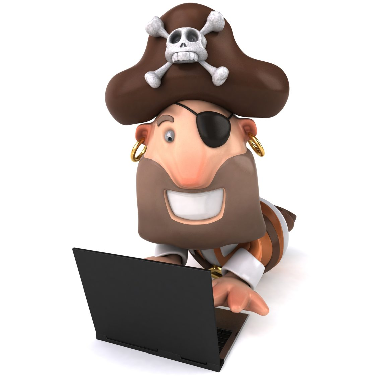 pirat vid dator