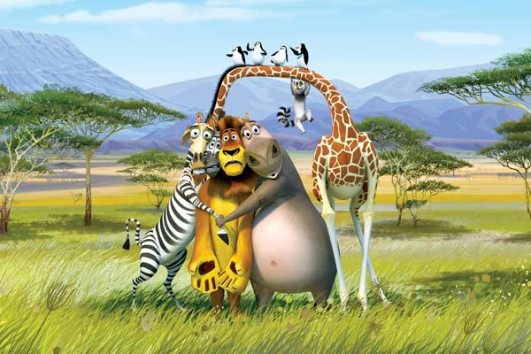 Madagascar 2 - Escape 2 Africa är riktigt rolig. 4/5