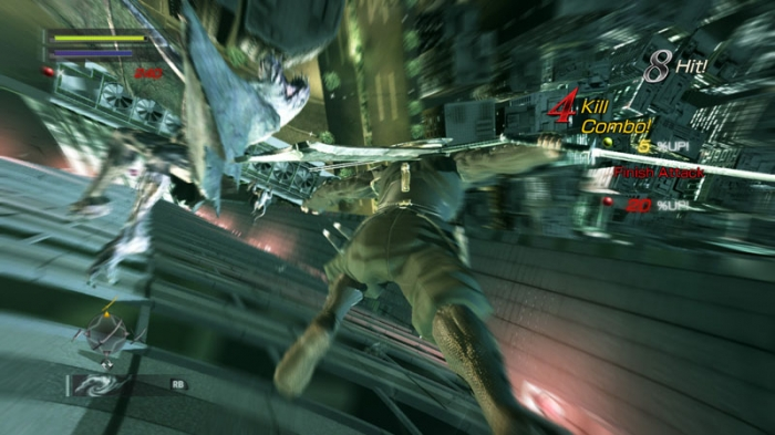 Ninja Blade QTE-sekvens