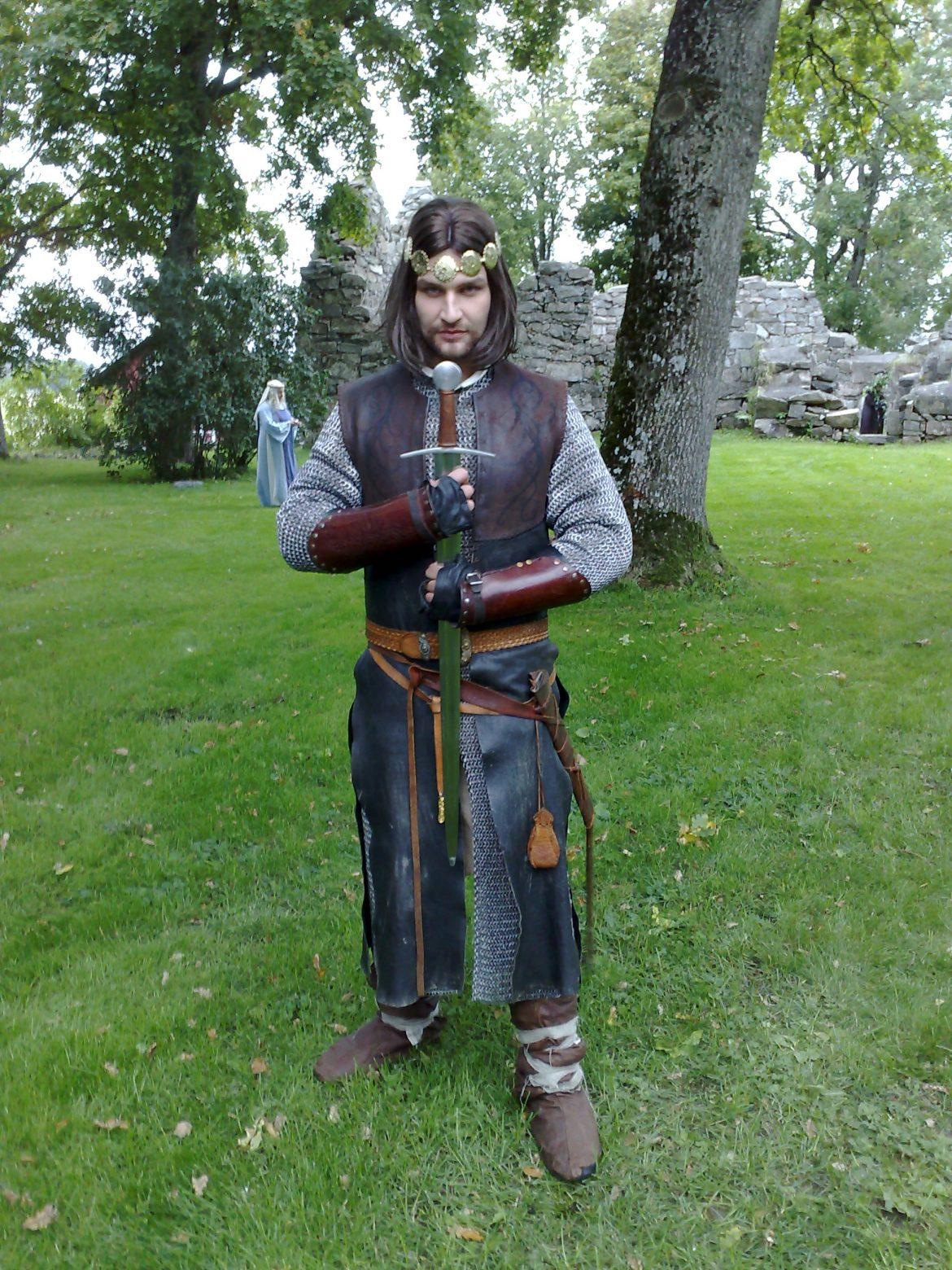 Christian Magdu som Martin, i Aragorn-kostym ur Prinsessa