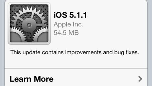 Ny iOS-uppdatering ute nu (5.1.1) för iPhone och iPad