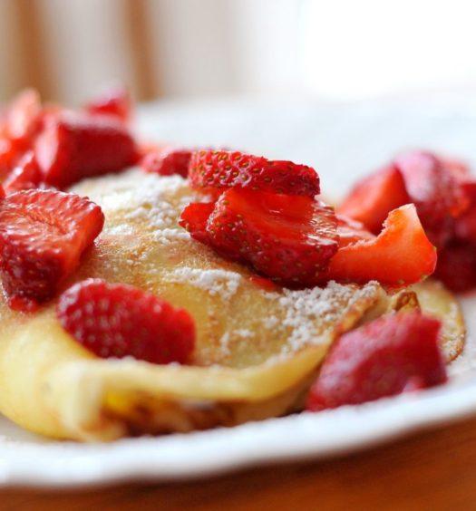 pannkakor jordgubbar