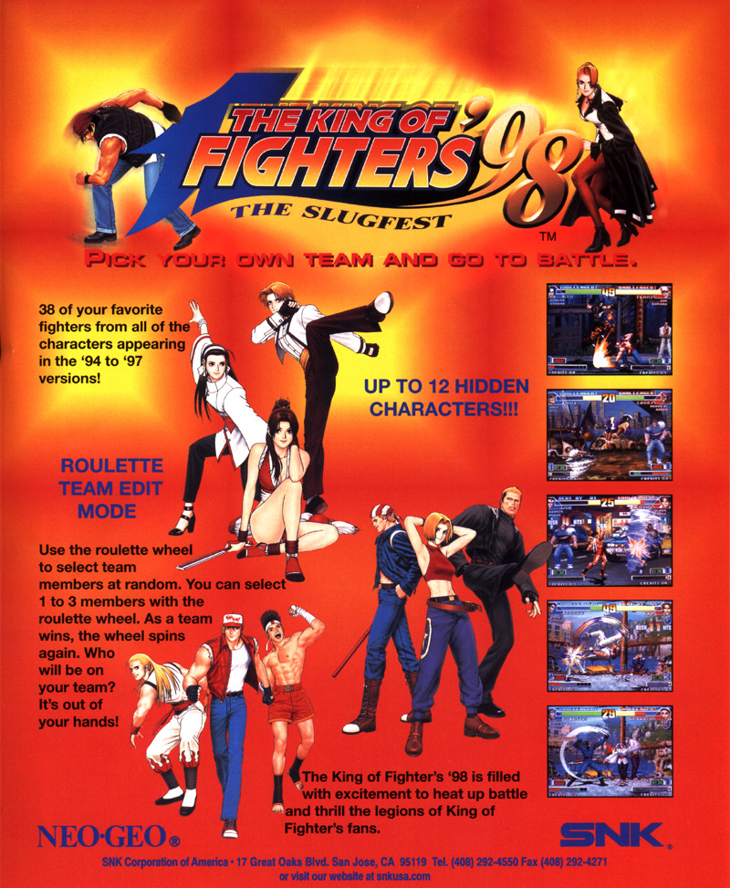 Promo poster till King of Fighters 98