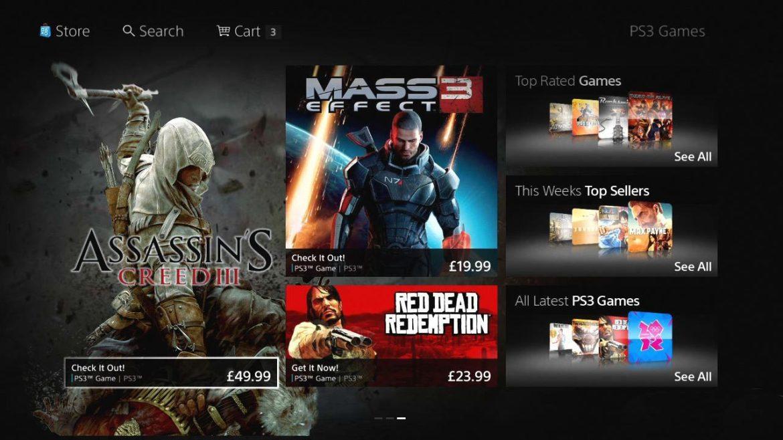 Playstation Store fick en rejäl grafisk make-over, som lite för tankarna till Windows 8
