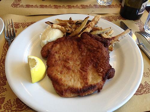 Angelini Osteria Pork Chop a la milanese