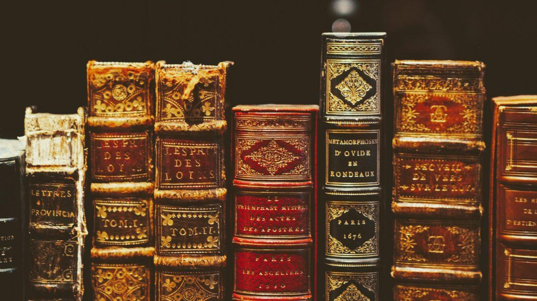 gamla böcker på bibblan