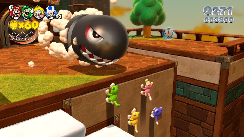 Någon har skickat en torped efter Mario-gänget (här i nya kattdräkterna)