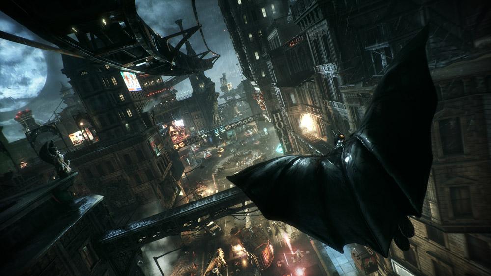 Att glidflyga genom Gotham City är en av höjdpunkterna i Arkham Knight