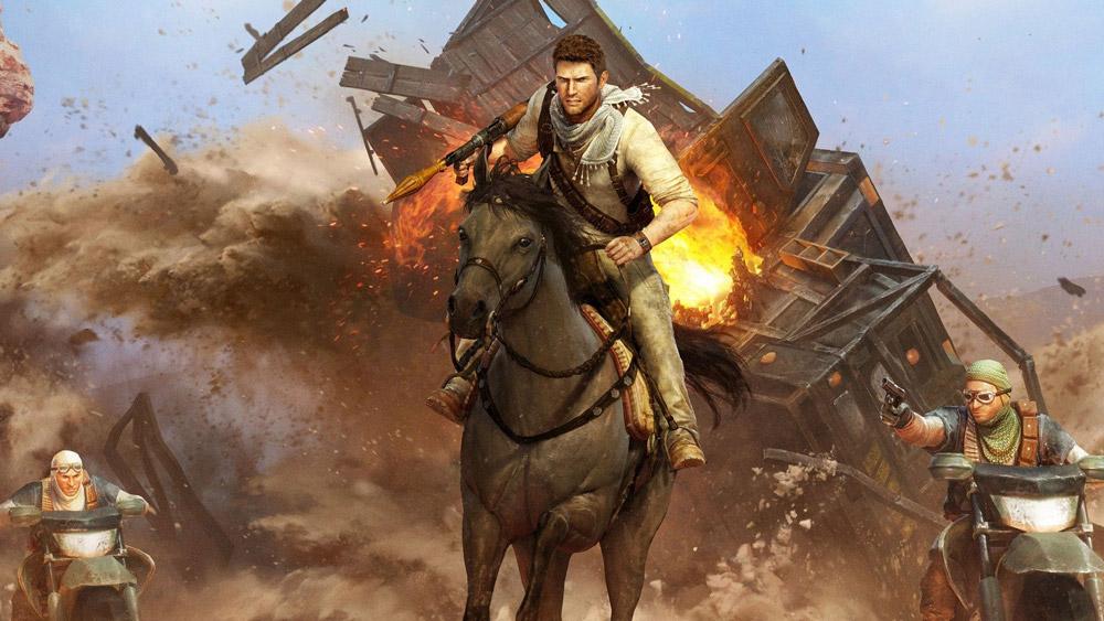 I Uncharted 3: Drake's Deception hettar det till ytterligare och bjuds på ännu mer spektakulära situationer.