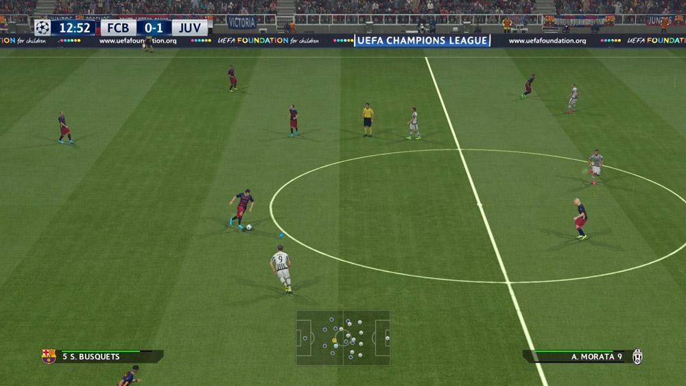 Champions League ser fint ut i PES 2016 (PS4)