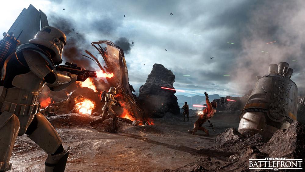 Star Wars: Battlefront är oerhört snyggt.