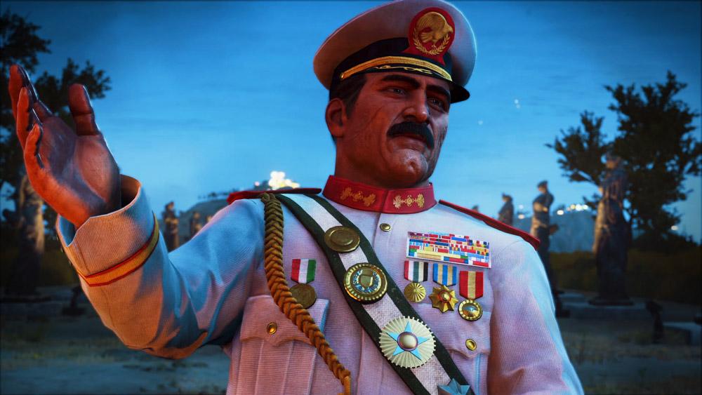 Diktatorn Di Ravello känns som en amalgamering av Josef Stalin och Muammar El Khaddafi.