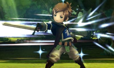 Huvudkaraktären Yew i turbaserad strid. Du som spelat Final Fantasy kommer att känna dig som hemma.