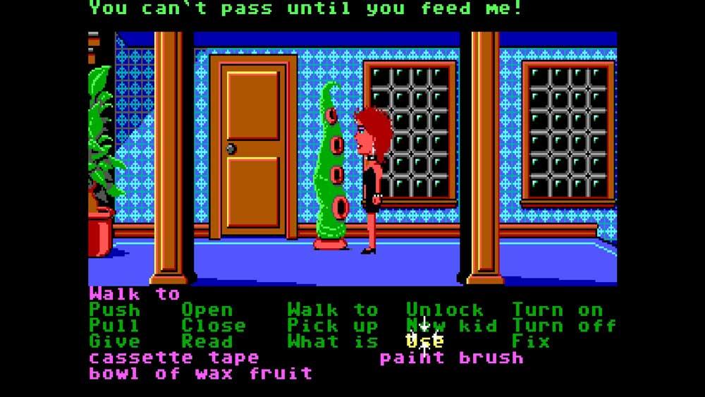 Klassiska Maniac Mansion ingår också och kan spelas i sin helhet (i spelet - meta!)