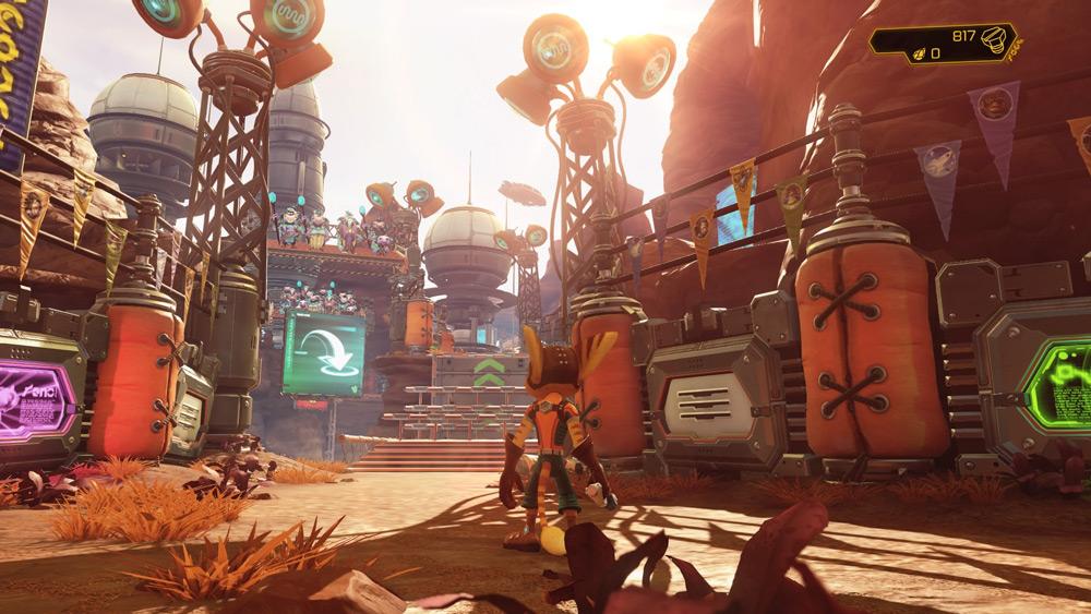 Ratchet & Clank på PS4 är oerhört snyggt - synd att det är så många mörka banor och sekvenser
