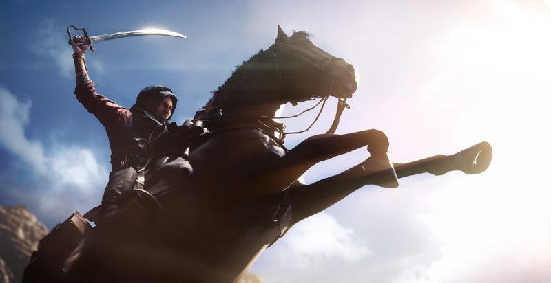 Till häst! Under första världskriget var kavallerier fortfarande en del av många arméer. Det märks i Battlefield 1.