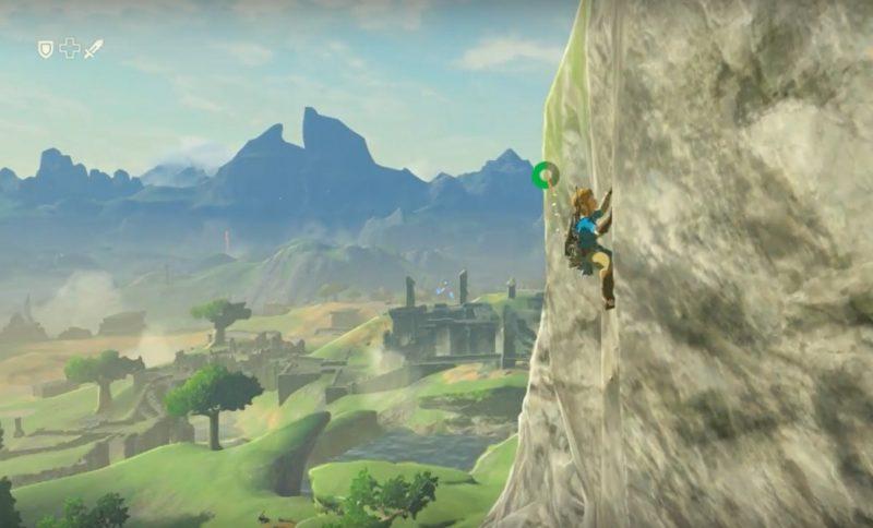 I Breath of the Wild kan Link ta sig nästan överallt i spelvärlden, bland annat genom att klättra.
