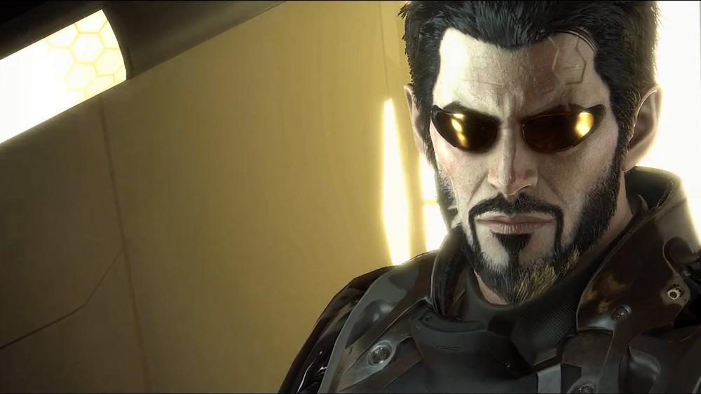Spelets huvudperson Adam Jensen är cool, men lite träig i sin framtoning.