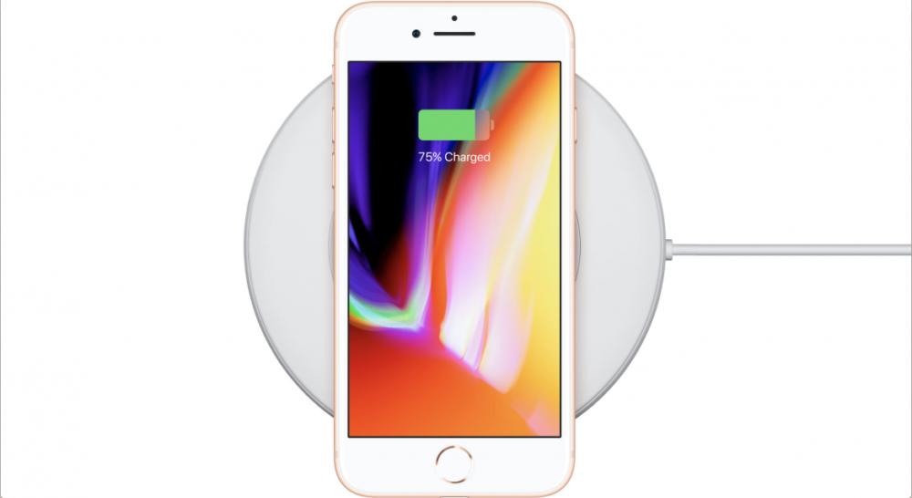 iPhone 8 qi trådlös laddning