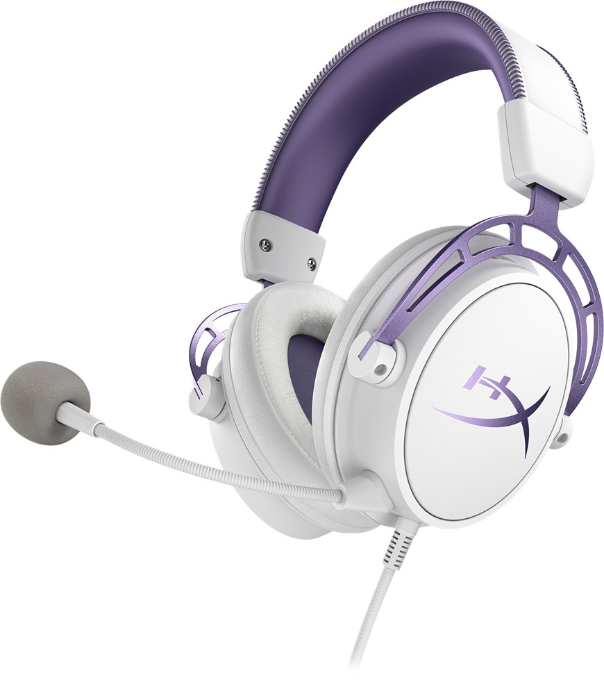 hyperx cloud alpha Lila vit (purple white)