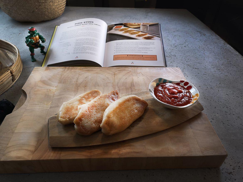 gyoza pizza geeky chef strikes back