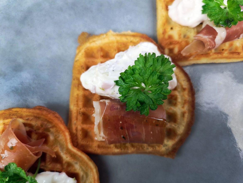 waffle prosciutto starter