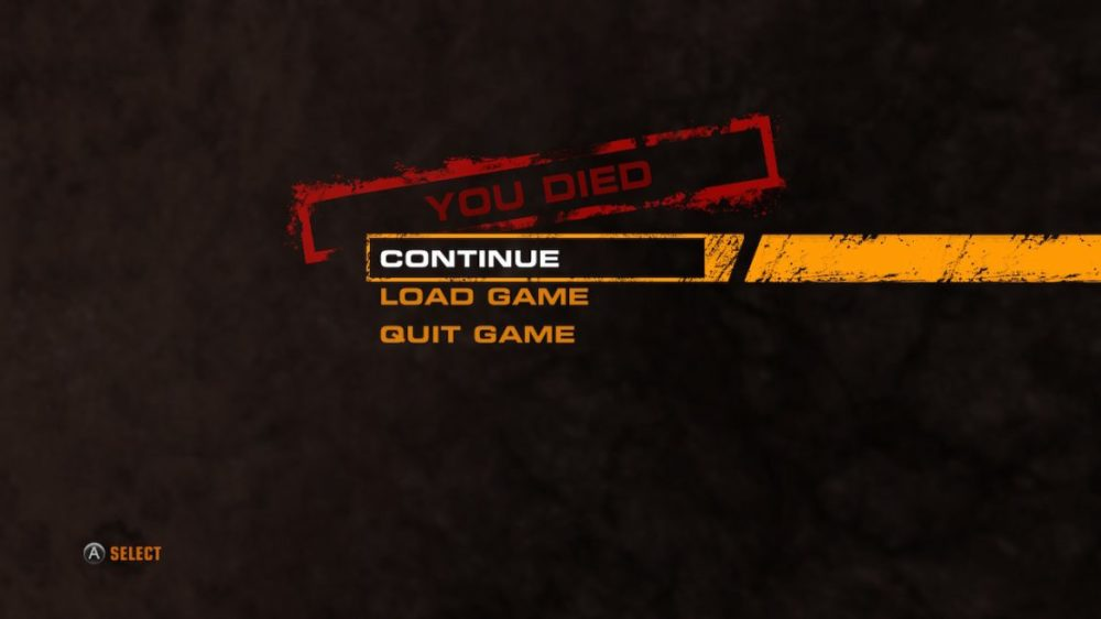 Red Faction death screen