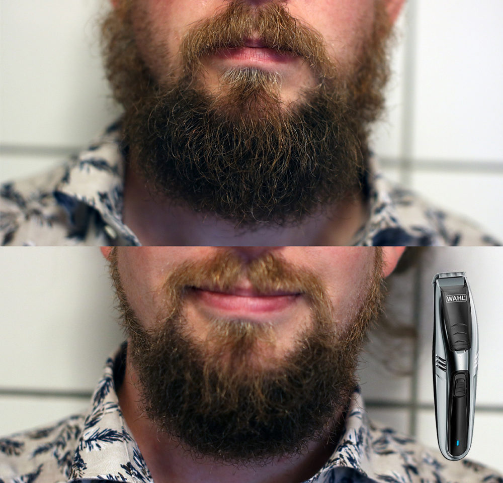 Wahl Vacuum Trimmer before after