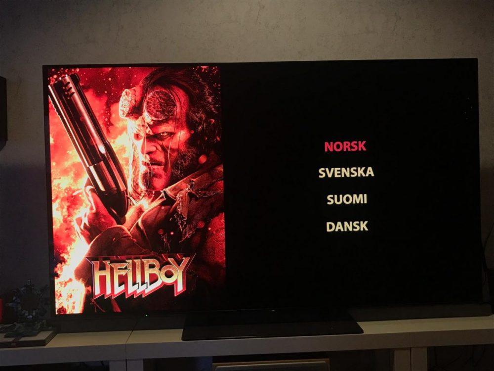 Hellboy svenska blu-ray-utgåvan