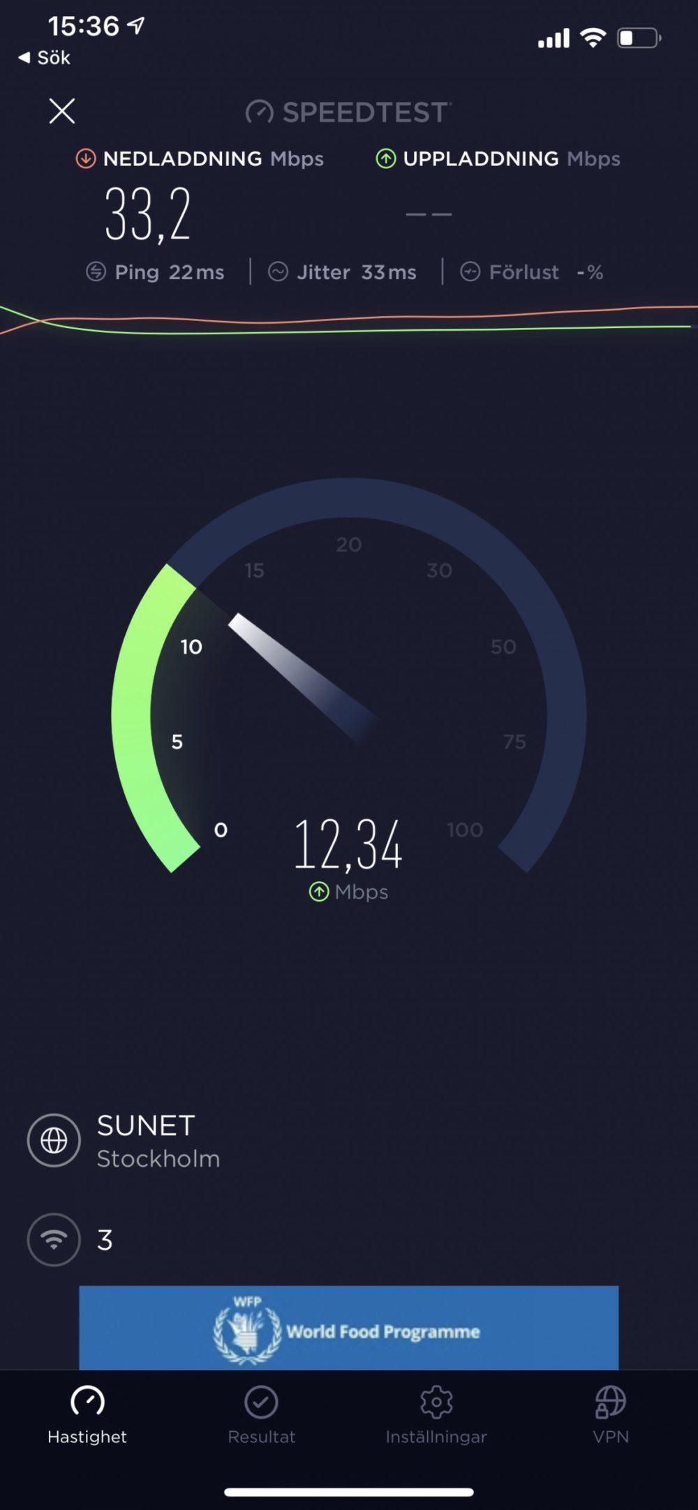 M2 Speedtest Sunet 4G iphone 11 pro max