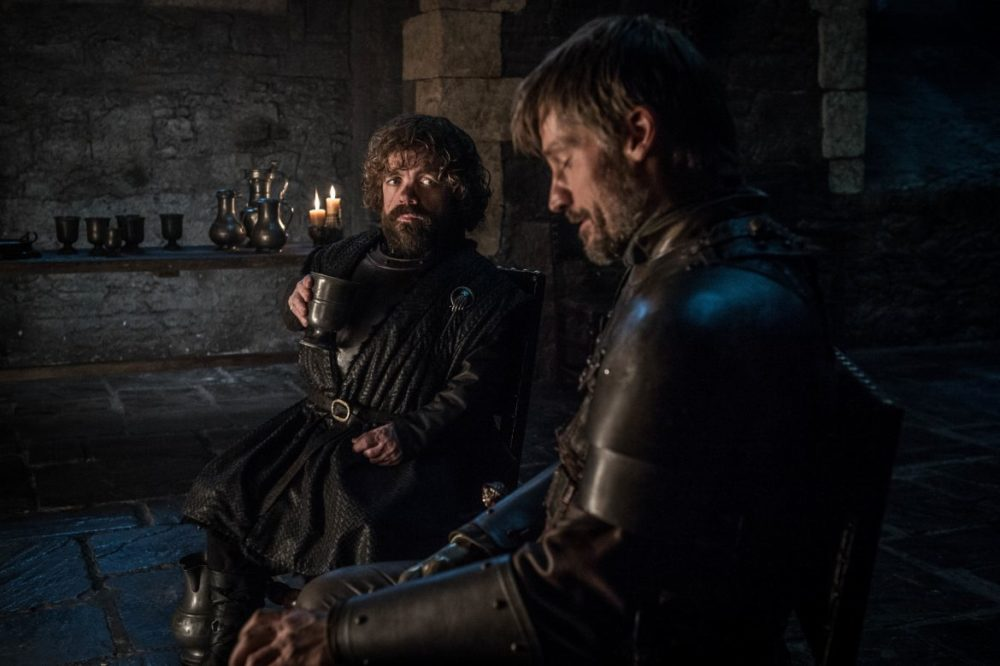 Game of Thrones Tyrion och Jamie säsong 8