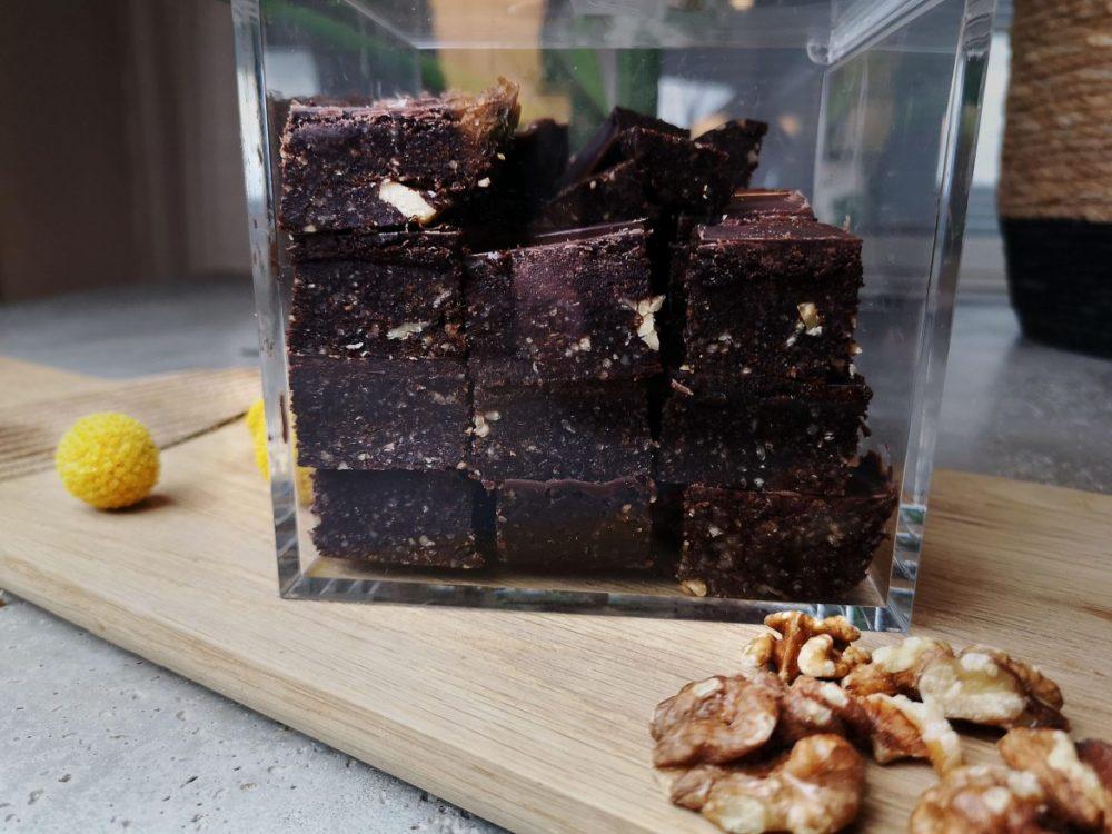 veganska brownies med valnötter
