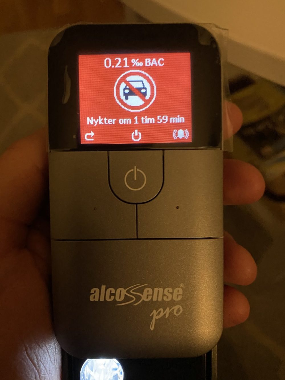 AlcoSense Pro test recension 0.2 promille senses