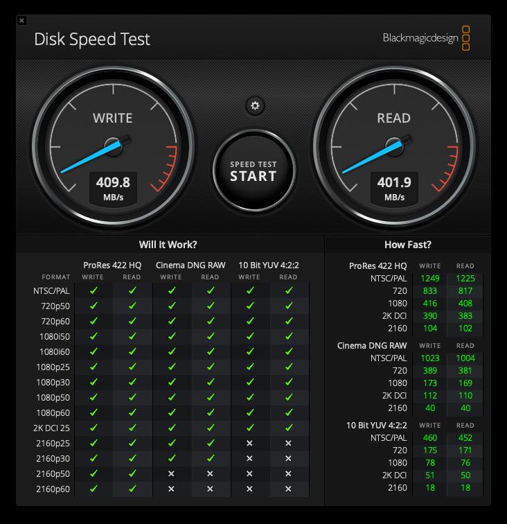 ADATA SE800 USB-A hastighet
