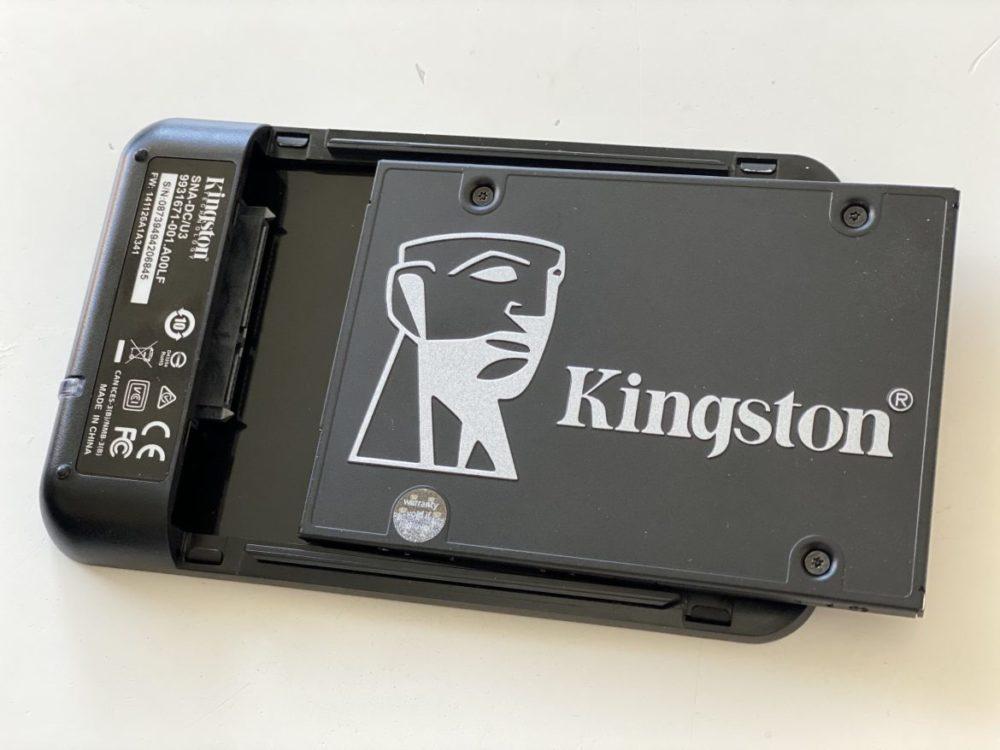 Kingston KC600 SSD usb docka installation