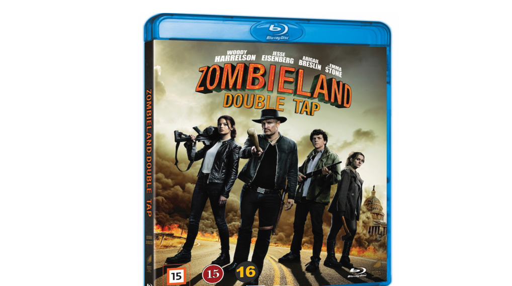 Zombieland Double Tap - bluray omslag