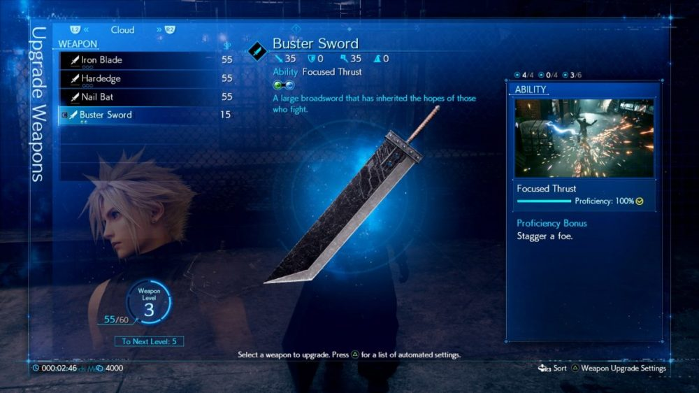 final Fantasy VII Remake uppgradera inventarier