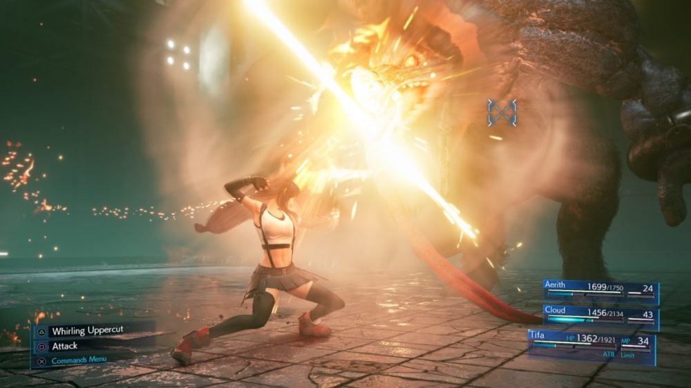 final Fantasy VII remake tifa fight