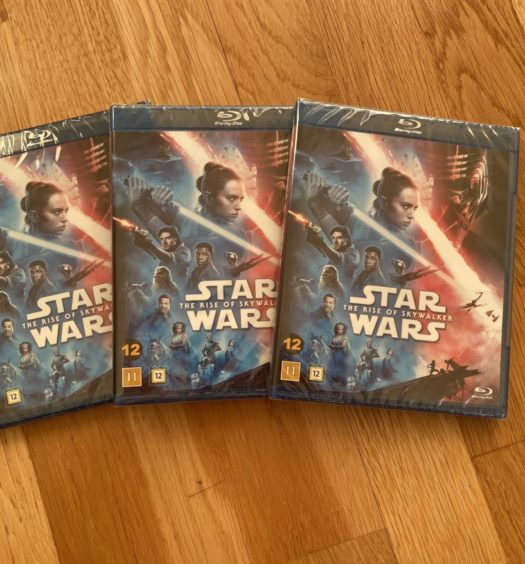 star wars rise of skywalker bluray senses tävling