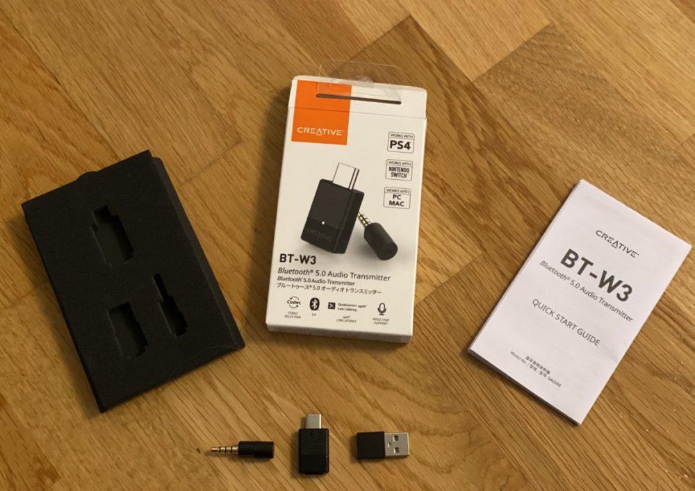 Creative BT-W3 vad finns i paketet?