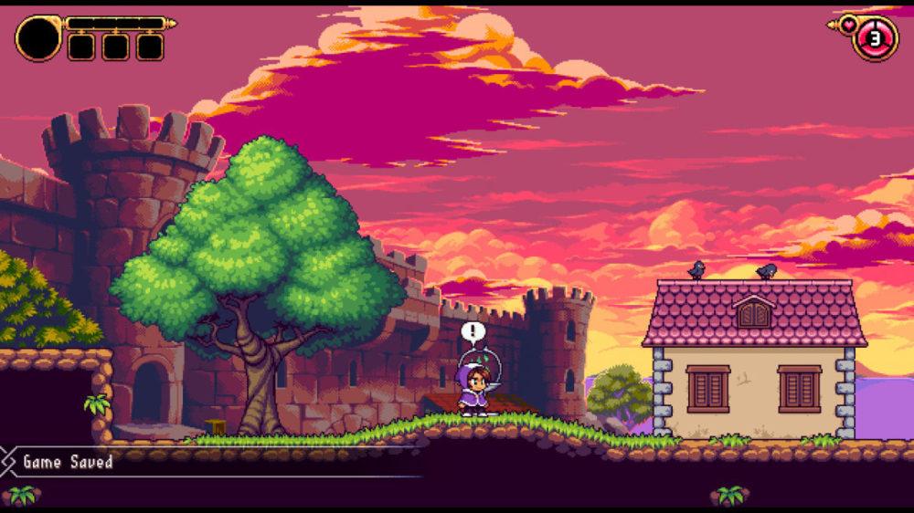 Alwa's Legacy - Elden pixels - screenshot Nintendo Switch - copyright 2020