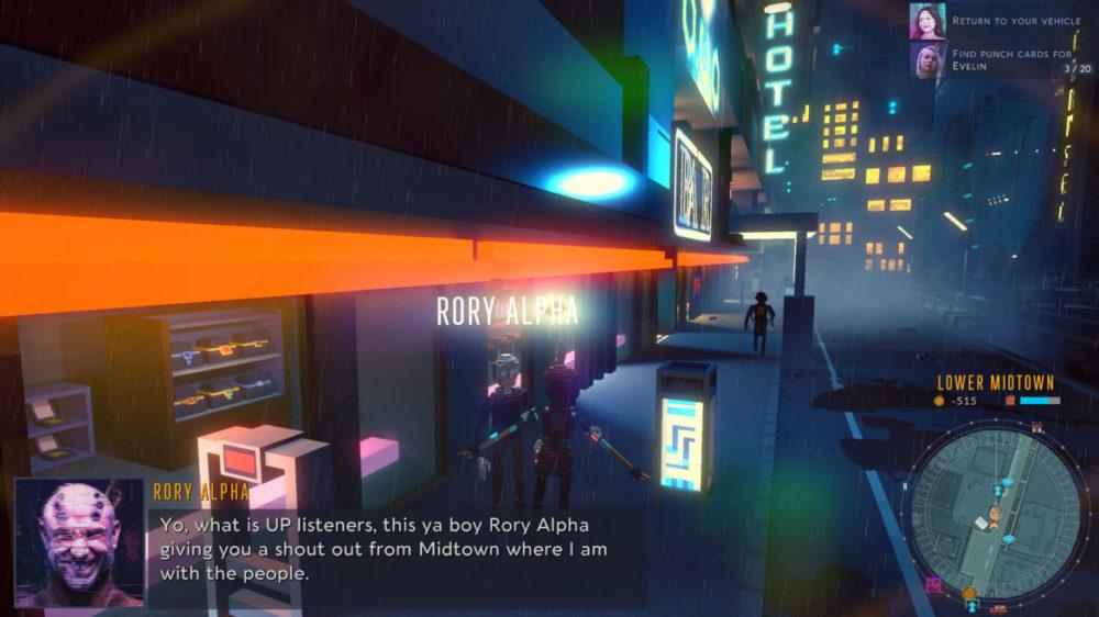 Cloudpunk - ION LANDS - copyright 2020 - Screenshot Xbox one X