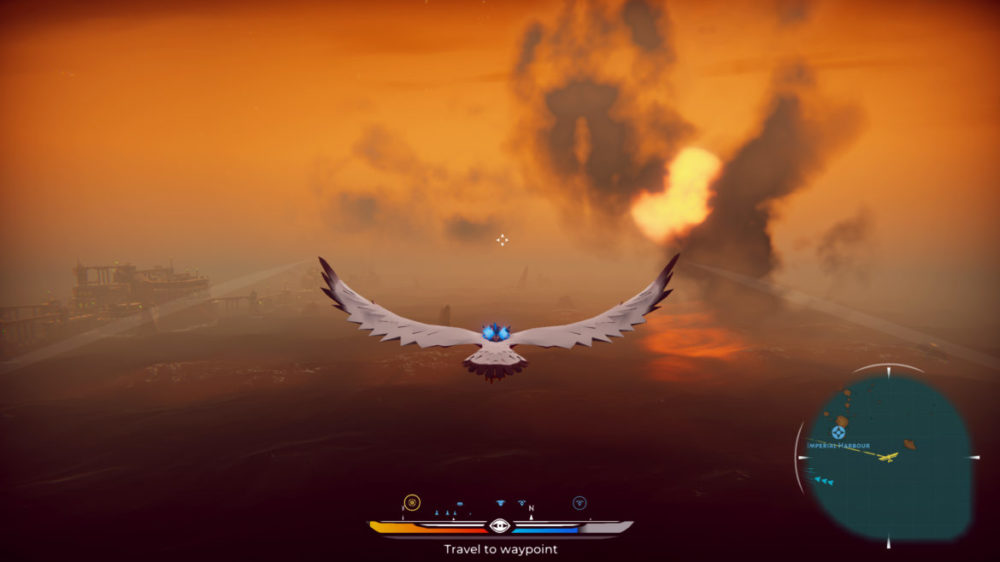 Falconeer - Tomas Sala - Wired Productions - copyright 2020 - screenshot från Xbox one X