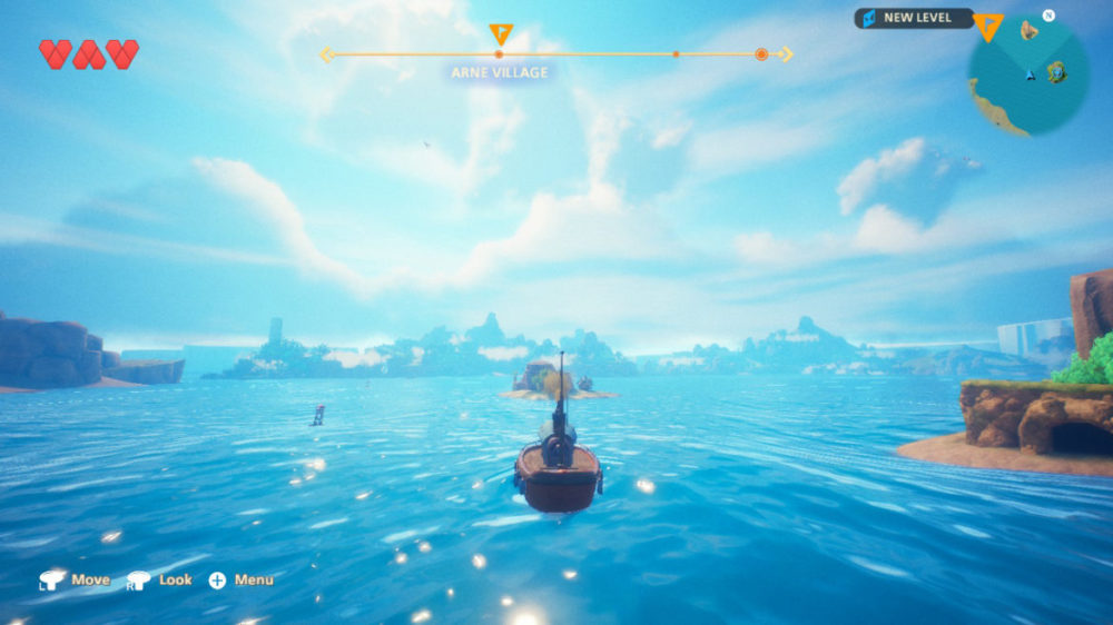 Oceanhorn 2: Knights of the lost Realm -  Cornfox & Bros. copyright 2020 . screenshot Nintendo Switch