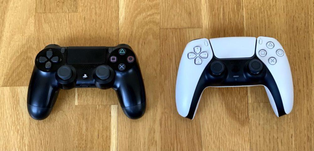 PS4 DualShock vs PS5 DualSense