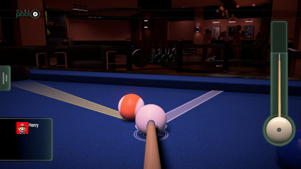 Pure Pool - VooFoo Studios - copyright 2020 - screenshot från Nintendo Switch