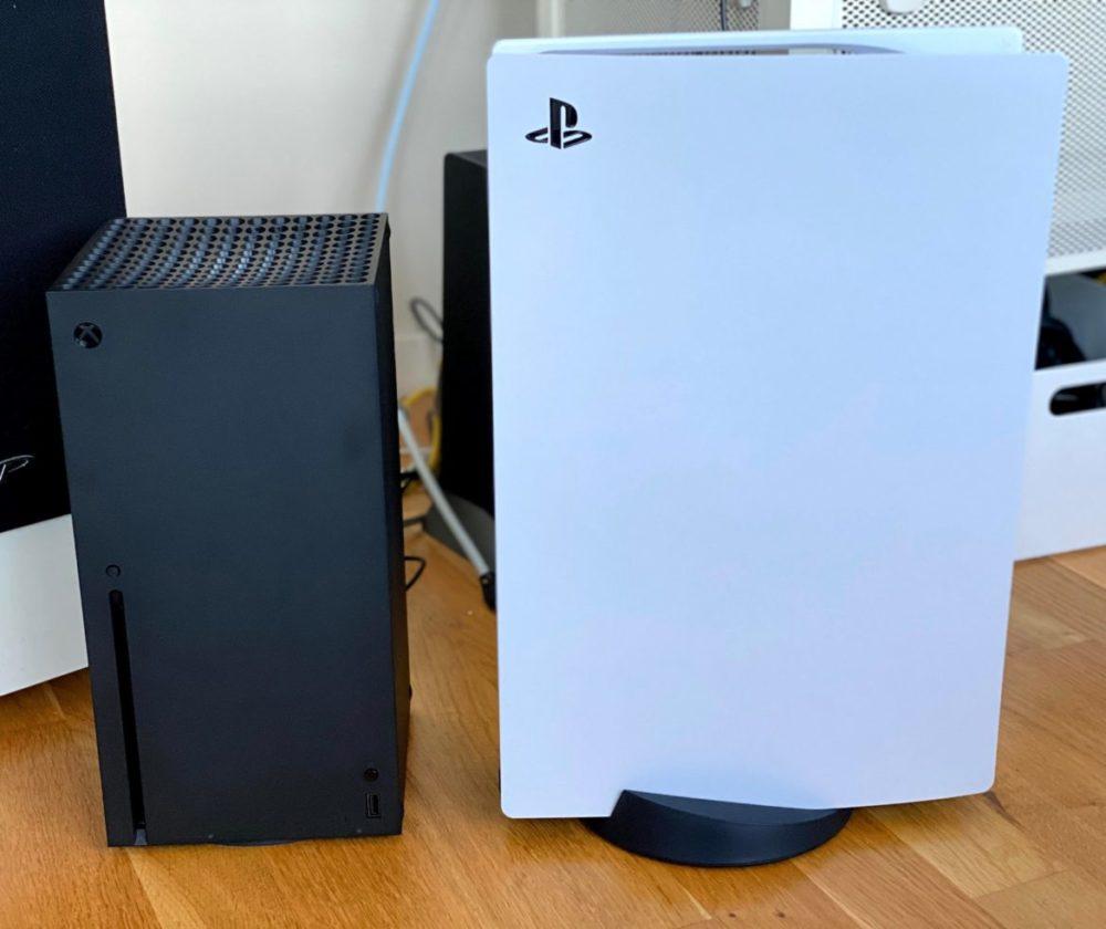 Jämförelse storlek PS5 Xbox Series X
