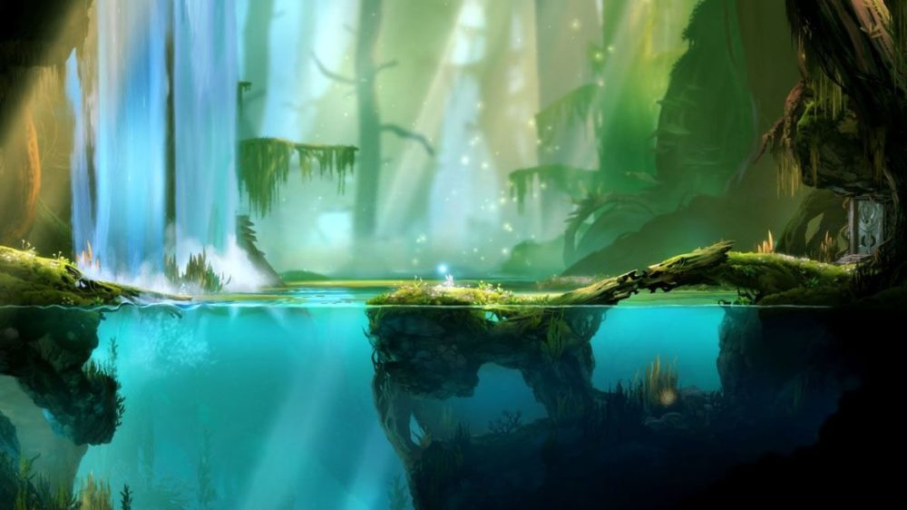 Ori and the Blind Forest: Definitive Edition - Moon Studios GmbH - Screenshot - Nintendo Switch - Ori by the water