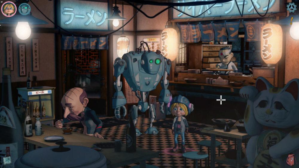Encodya - Assemble Entertainment - Chaosmonger Studio copyright 2021 - pressbild - Tina and Sam-53 in a sushi restaurant