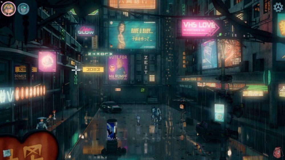 Encodya - Assemble Entertainment - Chaosmonger Studio copyright 2021 - pressbild - Neon signs in Neo Berlin